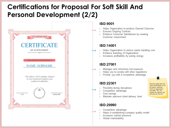 Certifications_For_Proposal_For_Soft_Skill_And_Personal_Development_Market_Sample_PDF_Slide_1