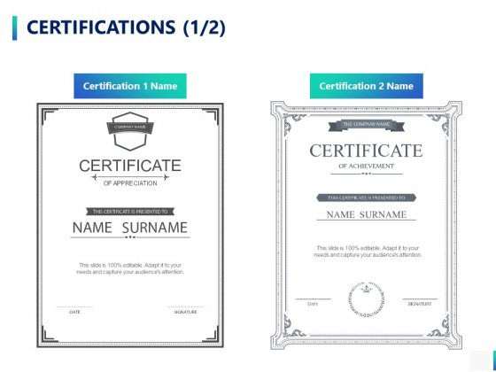 Certifications Management Ppt PowerPoint Presentation Professional Format Ideas