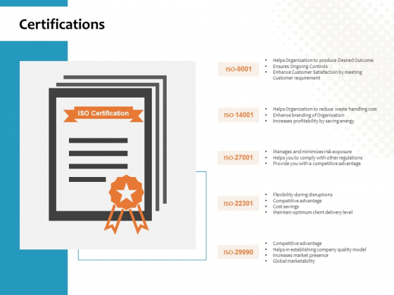 Certifications Ppt PowerPoint Presentation File Influencers