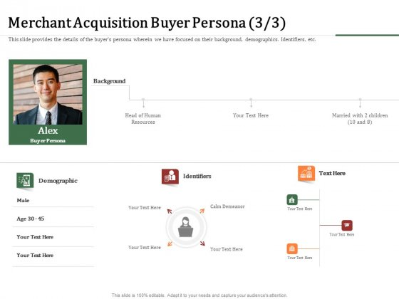 Challenges And Opportunities For Merchant Acquirers Merchant Acquisition Buyer Persona Slides PDF