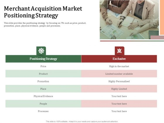 Challenges And Opportunities For Merchant Acquirers Merchant Acquisition Market Positioning Strategy Graphics PDF