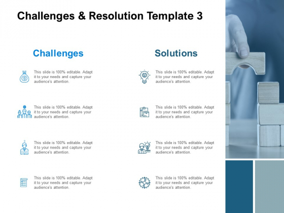 Challenges And Resolution Template 3 Ppt PowerPoint Presentation Gallery Outfit