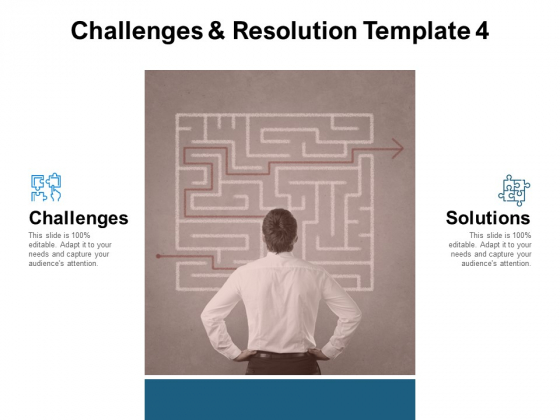 Challenges And Resolution Template 4 Ppt PowerPoint Presentation Show Background