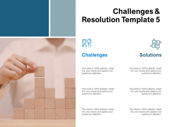 Challenges And Resolution Template 5 Ppt PowerPoint Presentation Professional Design Ideas