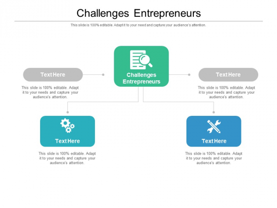 Challenges Entrepreneurs Ppt PowerPoint Presentation Show Gridlines Cpb