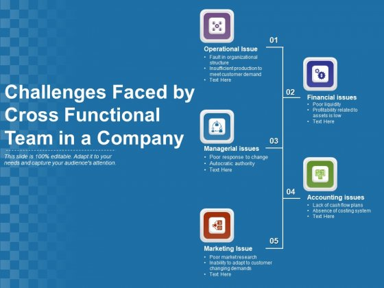 Challenges Faced By Cross Functional Team In A Company Ppt PowerPoint Presentation Model Themes PDF