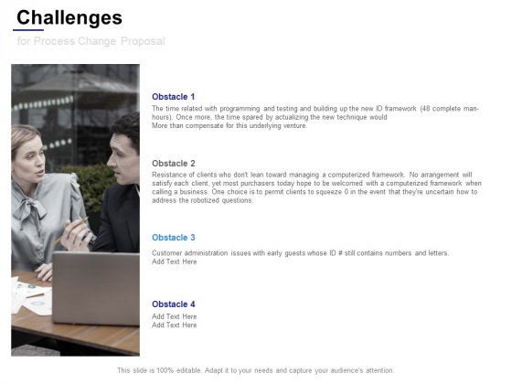 Challenges_For_Process_Change_Proposal_Ppt_PowerPoint_Presentation_File_Visuals_Slide_1