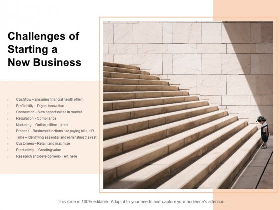Challenges Of Starting A New Business Ppt PowerPoint Presentation Inspiration Designs Download