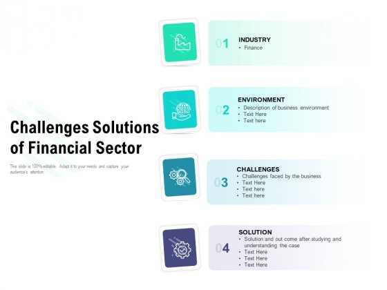 Challenges Solutions Of Financial Sector Ppt PowerPoint Presentation Infographics Maker