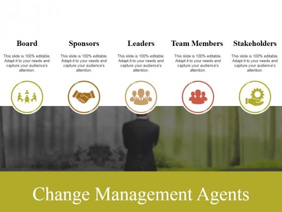 Change Management Agents Ppt PowerPoint Presentation Outline Background Image