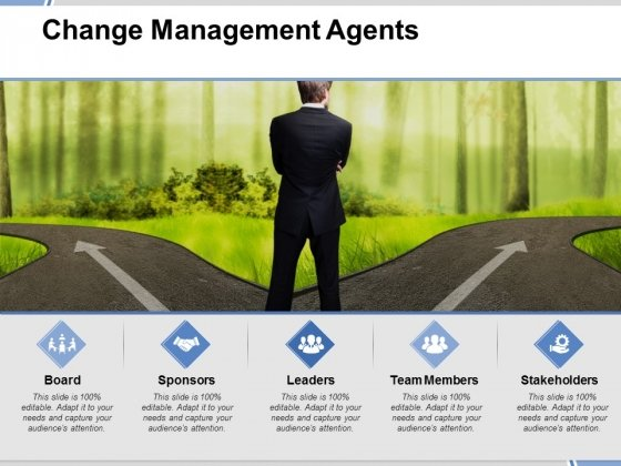 Change Management Agents Ppt PowerPoint Presentation Portfolio Infographics