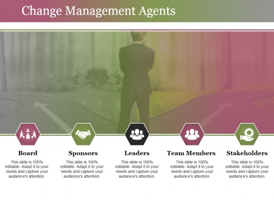 Change Management Agents Ppt PowerPoint Presentation Professional Deck