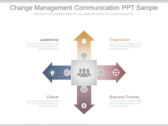 Change Management Communication Ppt Sample