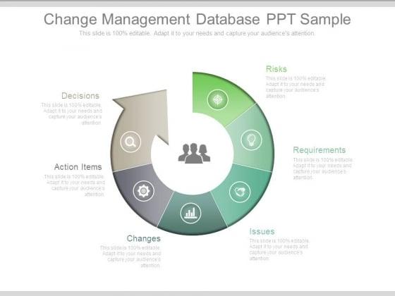 Change Management Database Ppt Sample