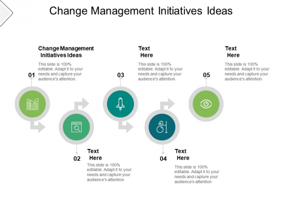 Change Management Initiatives Ideas Ppt PowerPoint Presentation Gallery Designs Cpb