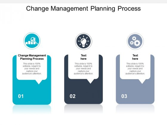 Change Management Planning Process Ppt PowerPoint Presentation Layouts Show Cpb