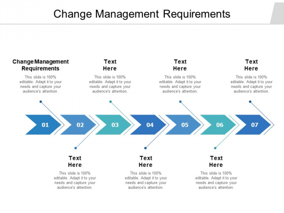 Change Management Requirements Ppt PowerPoint Presentation Infographics Picture Cpb