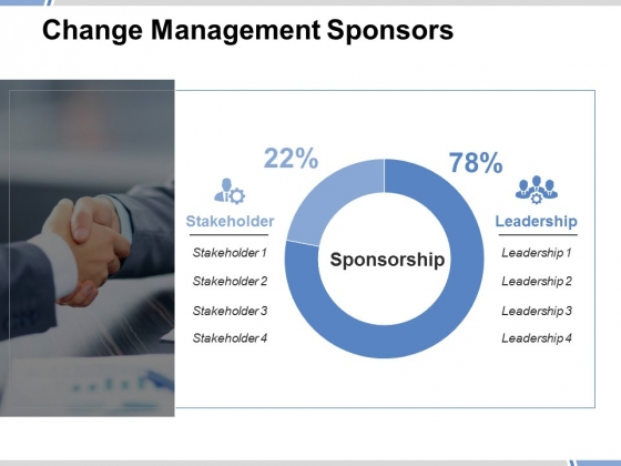 Change Management Sponsors Ppt PowerPoint Presentation Icon Portrait