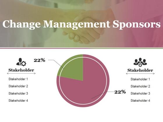 Change Management Sponsors Ppt PowerPoint Presentation Model Show