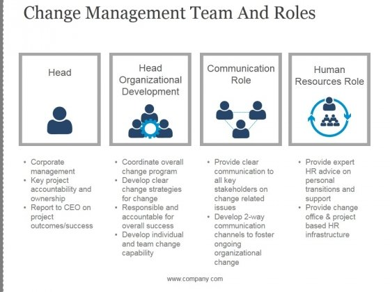 Change Management Team And Roles Template 2 Ppt PowerPoint Presentation Graphics
