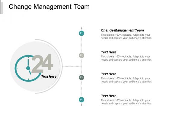 Change Management Team Ppt PowerPoint Presentation Outline Information Cpb