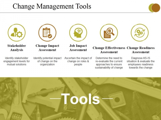 Change Management Tools Ppt PowerPoint Presentation Portfolio Graphics Tutorials