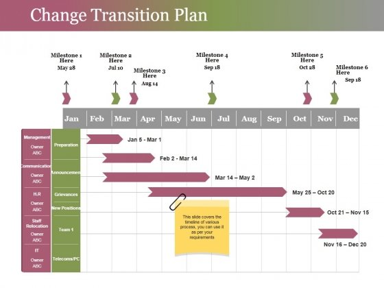 Change Transition Plan Template 2 Ppt PowerPoint Presentation Pictures Skills