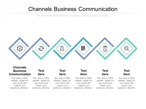 Channels Business Communication Ppt PowerPoint Presentation Professional Grid Cpb