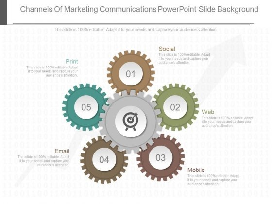 Channels Of Marketing Communications Powerpoint Slide Background