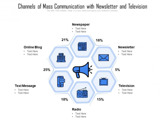 Channels_Of_Mass_Communication_With_Newsletter_And_Television_Ppt_PowerPoint_Presentation_File_Pictures_PDF_Slide_1