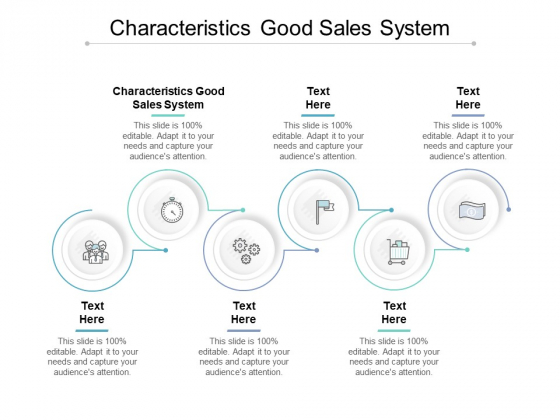 Characteristics Good Sales System Ppt PowerPoint Presentation Infographics Backgrounds Cpb