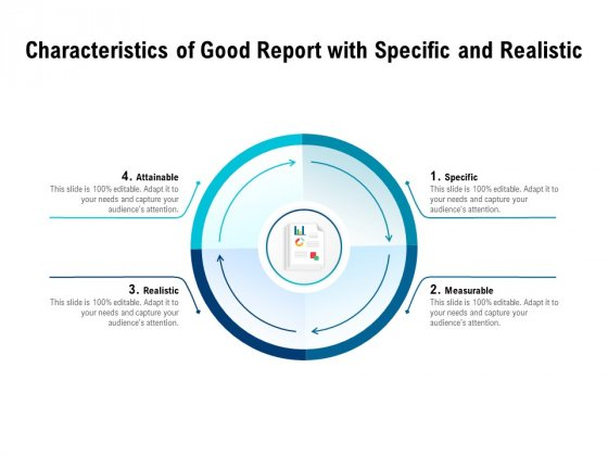 Characteristics Of Good Report With Specific And Realistic Ppt PowerPoint Presentation Model Clipart Images PDF