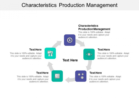 Characteristics Production Management Ppt PowerPoint Presentation Slides Summary Cpb
