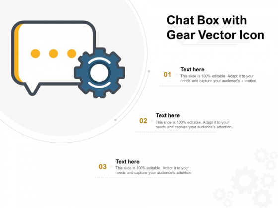 Chat Box With Gear Vector Icon Ppt PowerPoint Presentation Professional Introduction