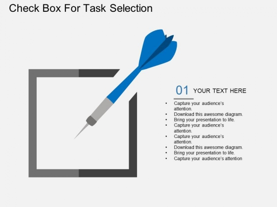 Check Box For Task Selection Powerpoint Template