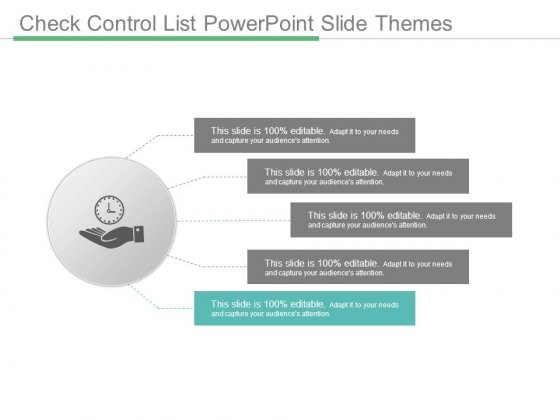 Check Control List Powerpoint Slide Themes