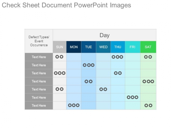 Check Sheet Document Powerpoint Images