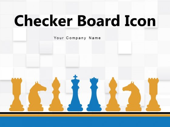 Checker Board Icon Chess Icon Chess Piece Board Strategy Ppt PowerPoint Presentation Complete Deck