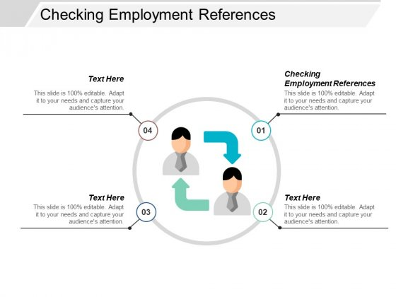 Checking Employment References Ppt PowerPoint Presentation Slides Download Cpb
