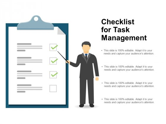 Checklist For Task Management Ppt Powerpoint Presentation File Example File