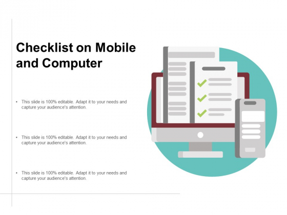 Checklist On Mobile And Computer Ppt Powerpoint Presentation Model Graphics