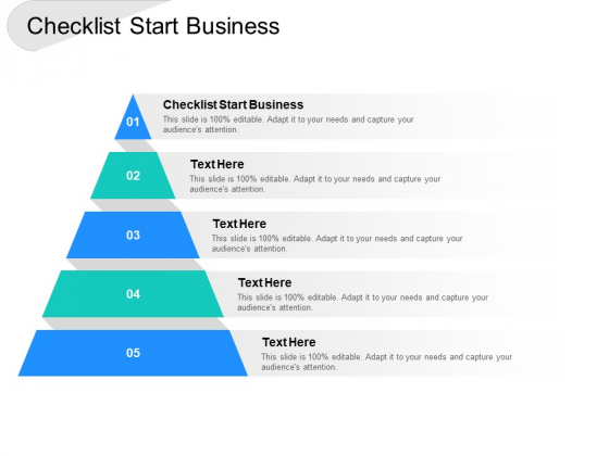 Checklist Start Business Ppt PowerPoint Presentation Pictures Graphics Download Cpb