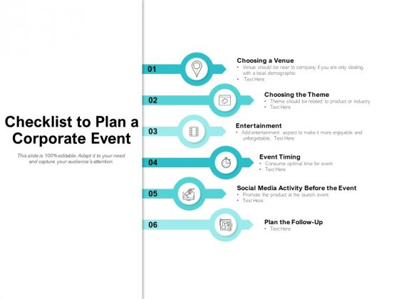 Checklist To Plan A Corporate Event Ppt PowerPoint Presentation Outline Files