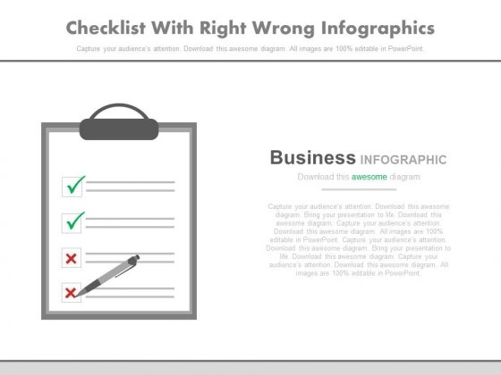 Checklist With Right Wrong Marks Powerpoint Slides