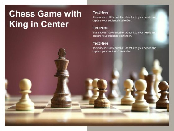 Chess Game With King In Center Ppt PowerPoint Presentation Infographic Template Examples