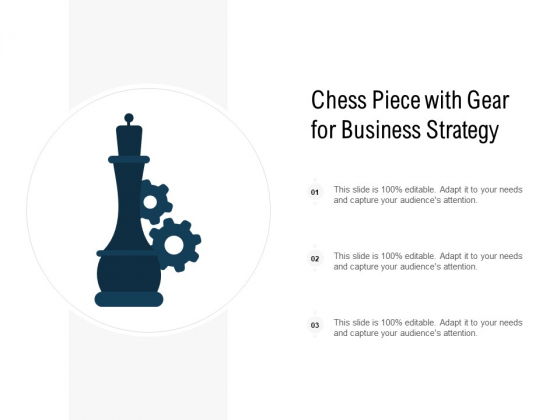 Chess Piece With Gear For Business Strategy Ppt PowerPoint Presentation Infographics Aids