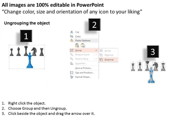 Chess_Team_Black_And_Blue_For_Leadership_Powerpoint_Template_2