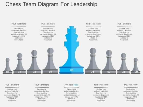 Chess Team Diagram For Leadership Powerpoint Template