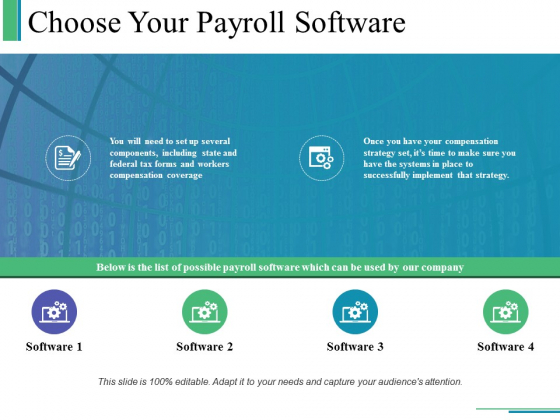 Choose Your Payroll Software Ppt PowerPoint Presentation Layouts File Formats