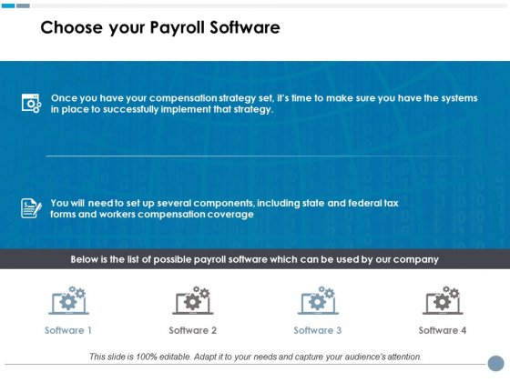 Choose Your Payroll Software Ppt PowerPoint Presentation Professional Guide